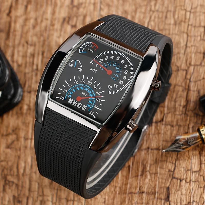 Relógio velocímetro Masculino Digital led