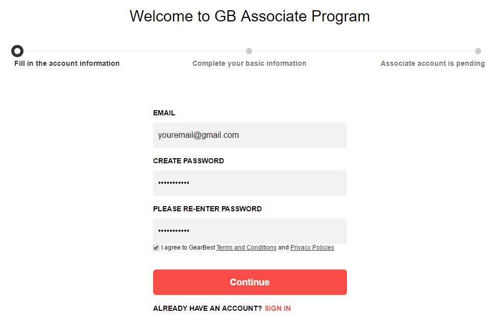 Afiliados Gearbest